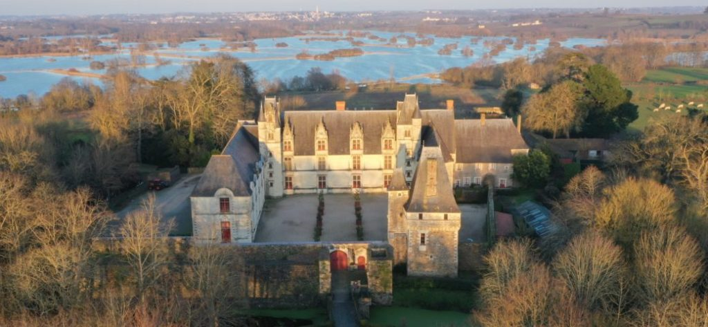 Château de Goulaine - Vue aérienne