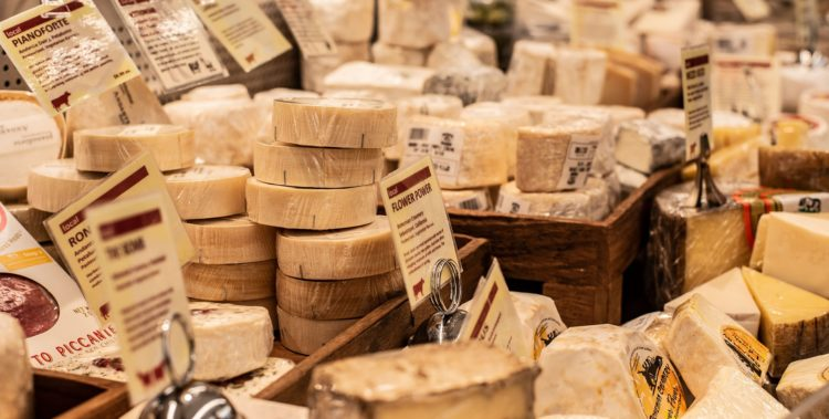 Gamme de fromages