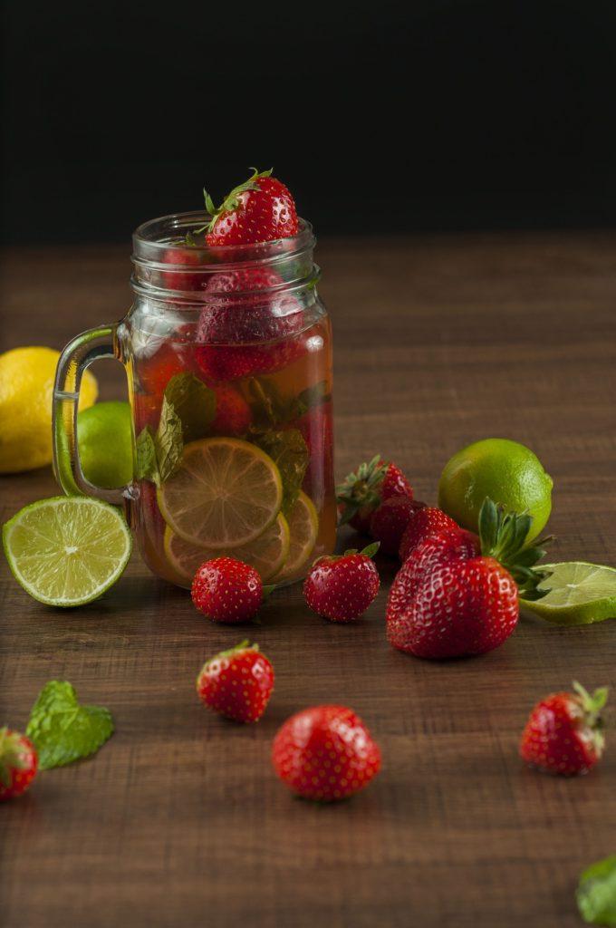 Eau aromatisée fraise & citron vert